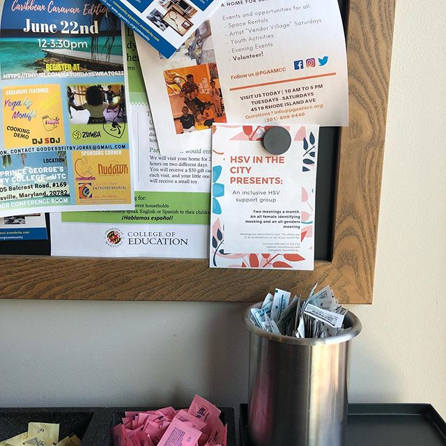 An HSV in the city flyer found in the wilds if Starbucks. . . . #getthewordout #flyers #hsv #hsv1 #hsv2 #supportgroup #livingwithhiv #livingwithherpes #herpesawareness #endstigma #endstistigma #inthewild #dmv #dcmetroarea #hsvinthecity