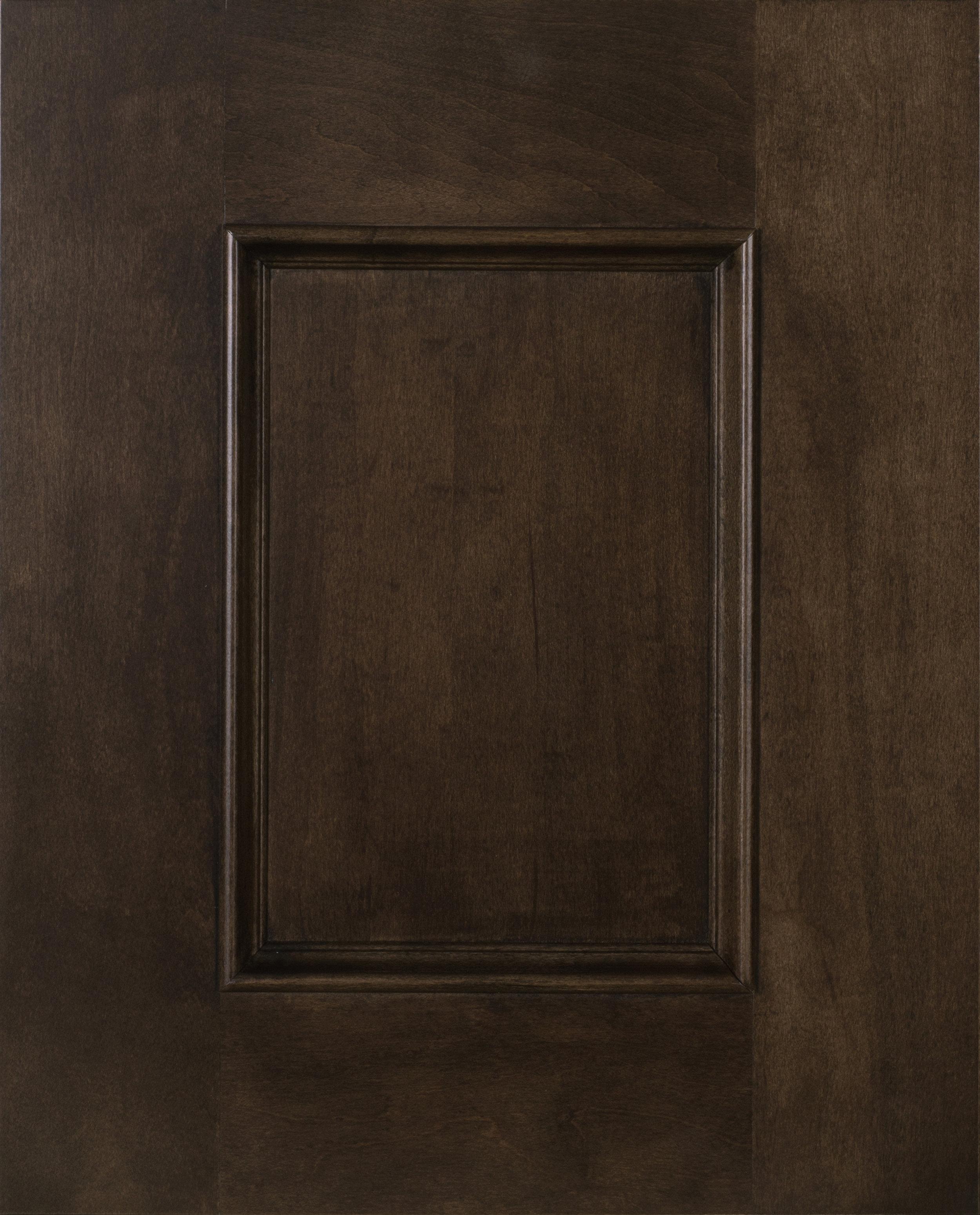 "Rainier - Recessed 1/4"" Center PanelCherry | Maple | Paint | Rustic BeechShown in Maple Mocha"
