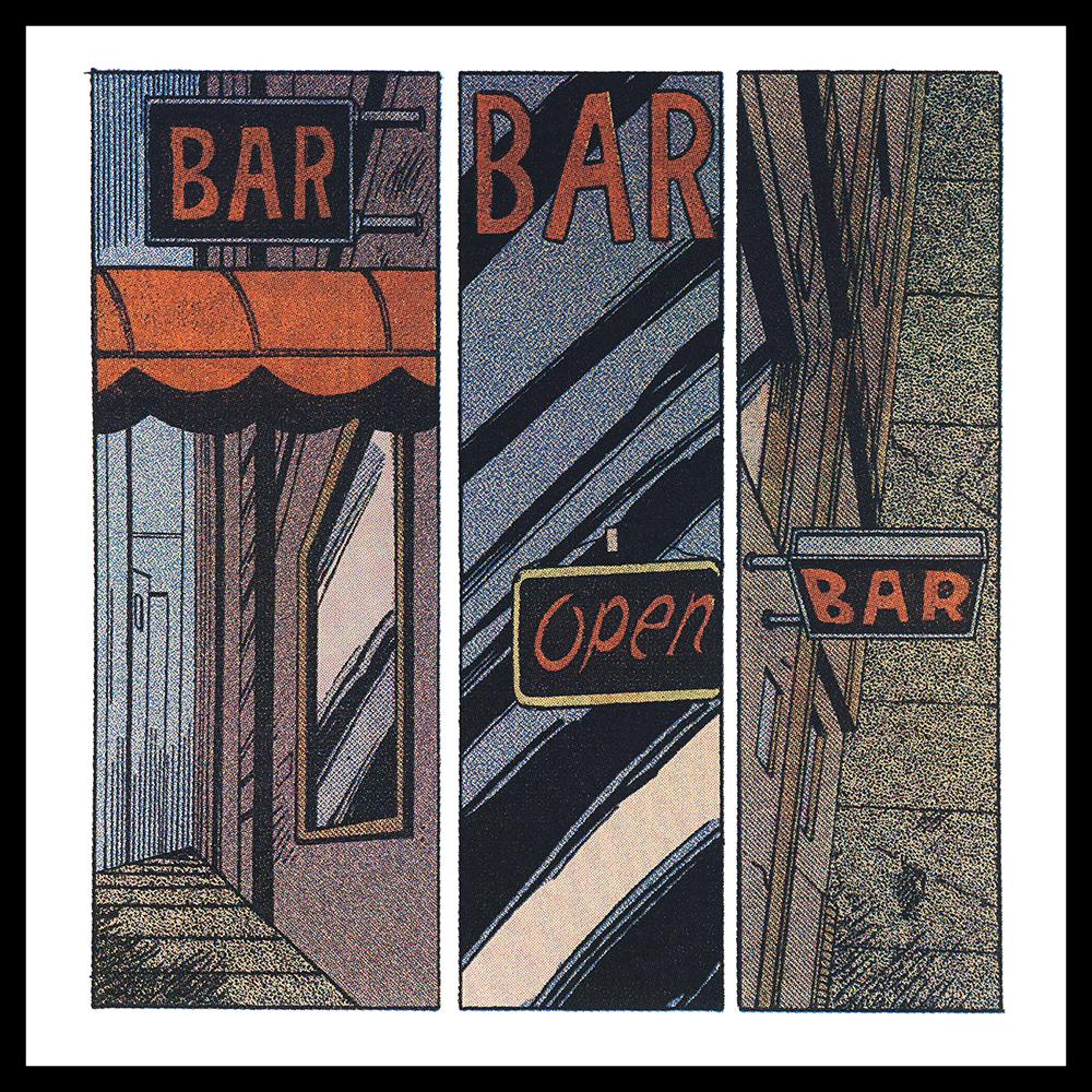 "Joseph Lupo,  BAR BAR, OPEN BAR… , CMYK Silkscreen, 8.5"" x 8.5"", 2015"