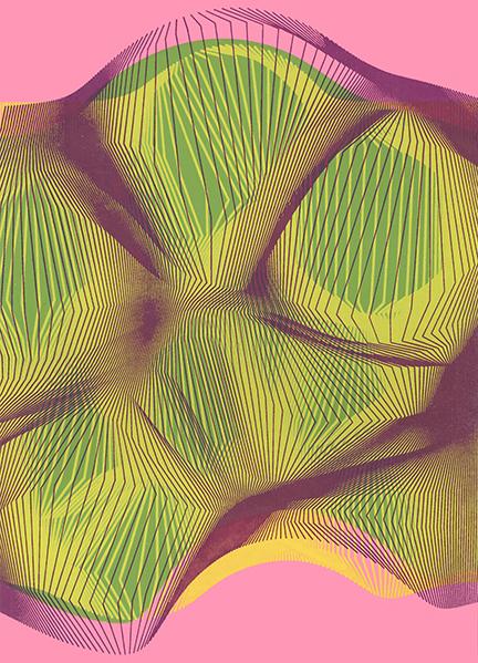 "Nadya Eidelstein,  Generative Print #1 , 9 x 14"", 2017"
