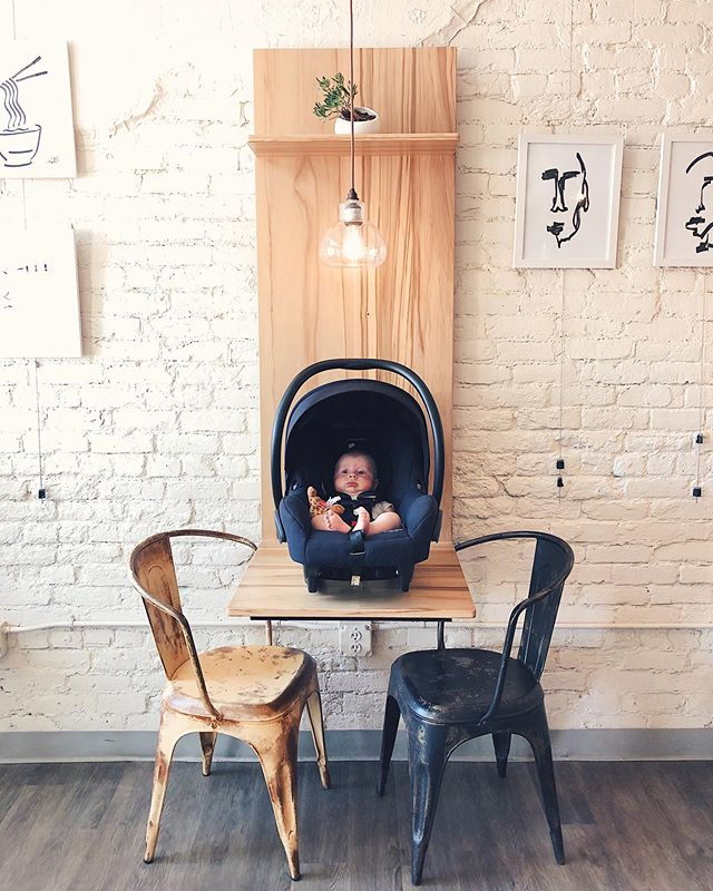 Teaching him about craft coffee early! Praise the good Lord that Utah has some good coffee shops now! . . @wasatchroastingcompany  #jackieboyiloveyou #craftcoffee #coffeesnob #prettyspaces
