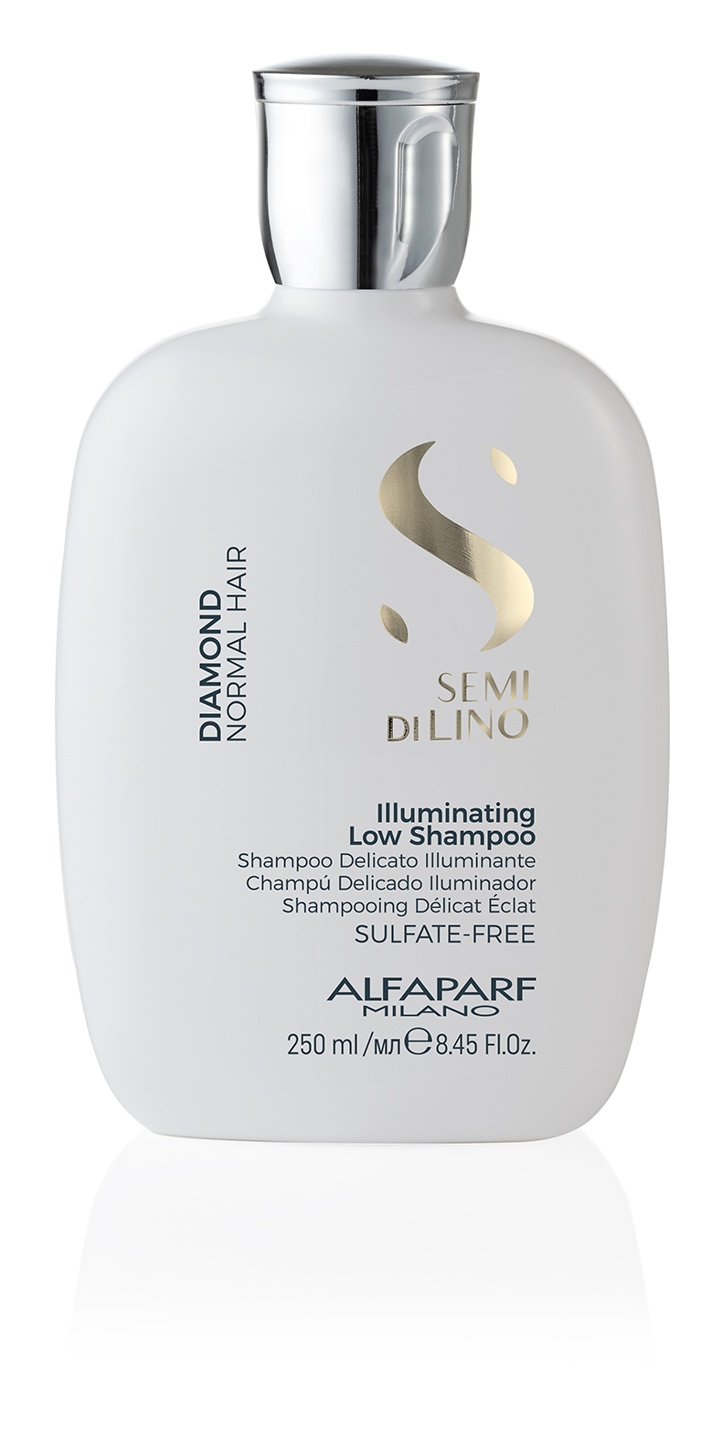 ILLUMINATING LOW SHAMPOO    DESCRIPTION   Cleanses and illuminates Revitalises  SULFATE FREE LIGHTNESS    FORMAT   Bottle 250ml
