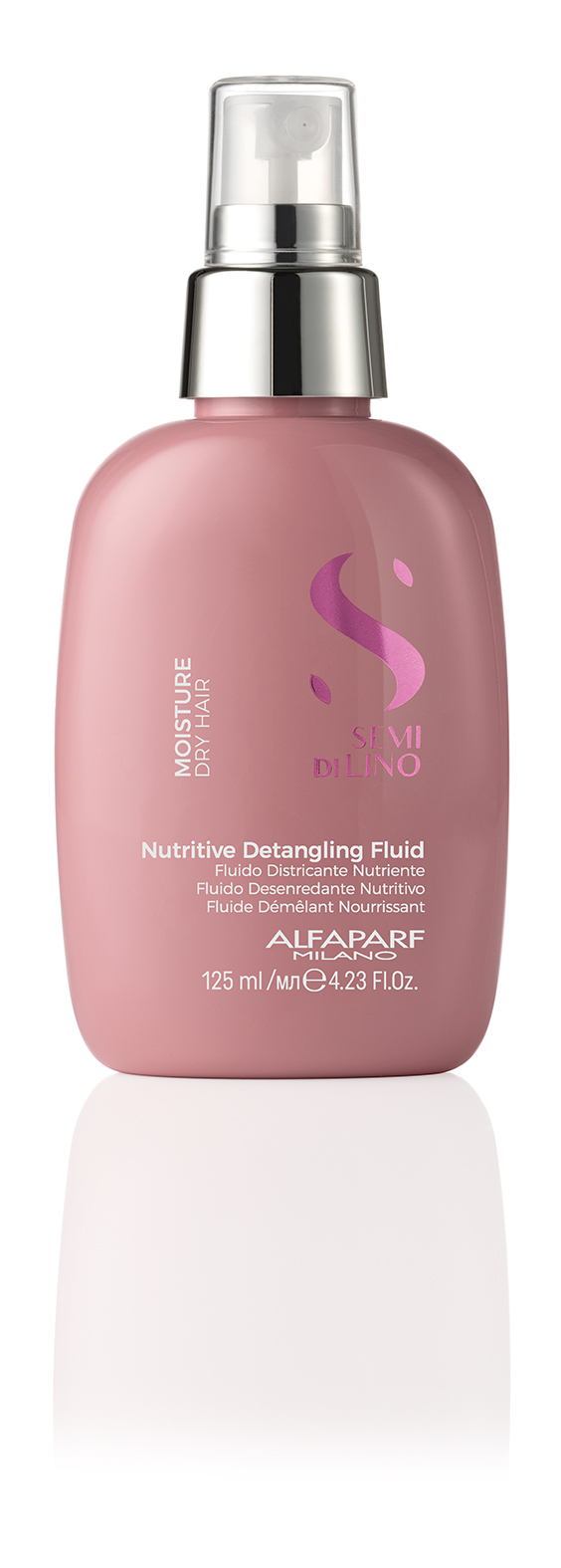 NUTRITIVE DETANGLING FLUID    DESCRIPTION   Maximum combability without weighing down the hair Silkiness   FORMAT   Bottle 125ml