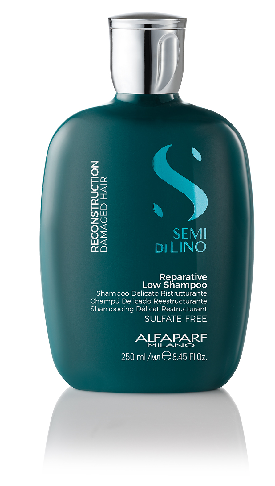 REPARATIVE LOW SHAMPOO    DESCRIPTION   Cleanses and restructures Strengthens  SULFATE FREE LIGHTNESS    FORMAT   Bottle 250ml