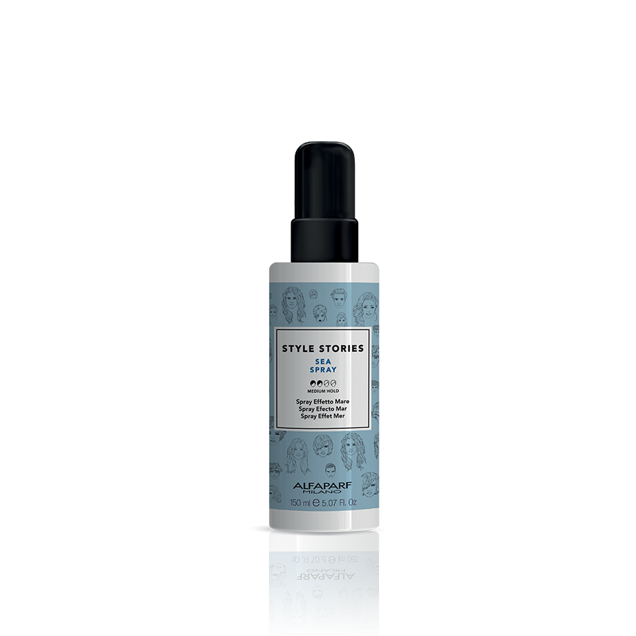 "SEA SPRAY    DESCRIPTION   Salt spray, boosts the texture to instantly create defined and tousled looks with a ""sea effect"". Gentle matte finish.   FORMAT   150 ml"