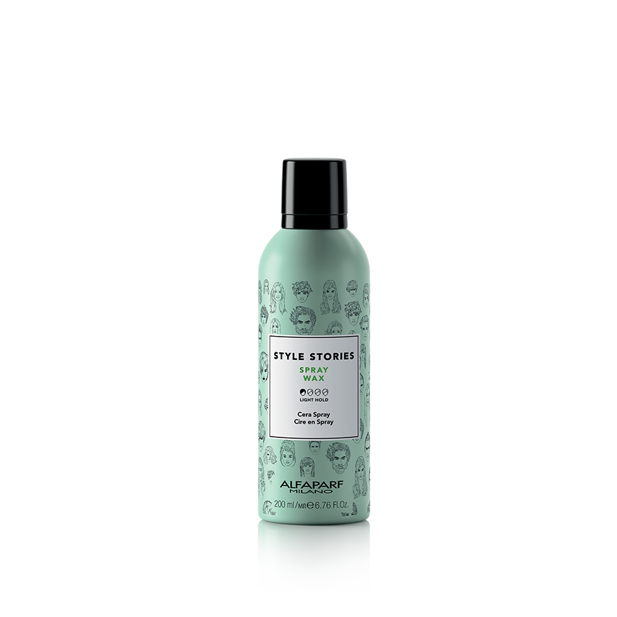 SPRAY WAX    DESCRIPTION   Soft wax spray. Separates and enhances the hair. Ideal for tousled looks, gives texture and shine to the hair for defined and malleable results. Glossy finish.   FORMAT   200 ml