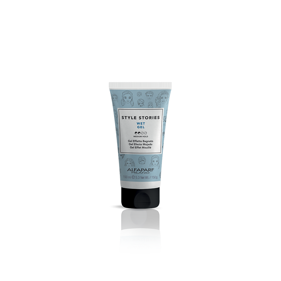 WET GEL    DESCRIPTION   Gel with a wet effect, for flexible and residue-free results.  Perfect look for 8 hours!*    FORMAT   100 ml   *92% of the initial style after 8 hours. Instrumental tests conducted at 23°C - 73°F, in conditions of controlled humidity (50%).