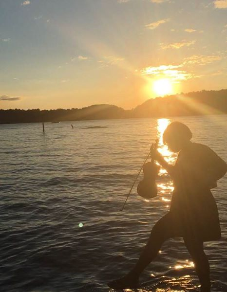 Sai The Violinist Lake Norman Sunset 3.jpg