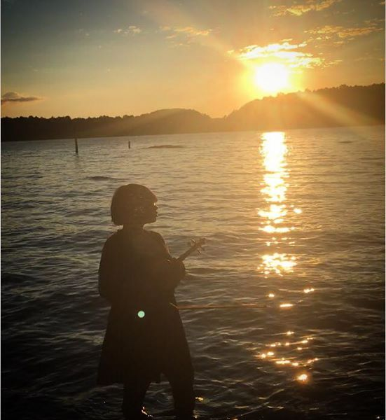 Sai The Violinist Lake Norman Sunset.jpg