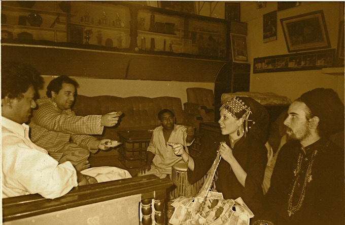 Aminah Chishty's initiation with Ustad Rahat Fateh Ali Khan & Ustad Dildar Hussain Khan. 2003