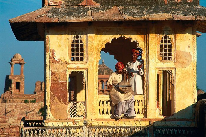 Qawwali musicians in Rajasthan, India. (Getty Images)
