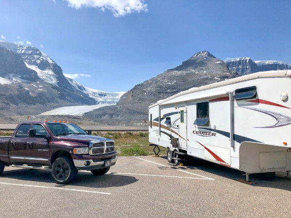 Icefields Centre RV Camping Lot, Jasper National Park