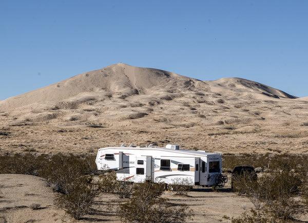 Boondocking in the Mojave Desert