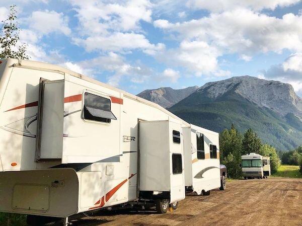 Boondocking outside of Jasper National Park