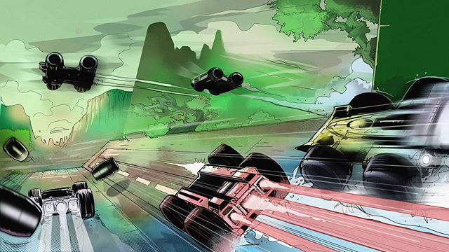 Another one from @adam_szary  #GRIPCombatRacing #concept #conceptart #gameart #digitalart #art #videogames #playstation4 #XboxOne #NintendoSwitch #pcgaming