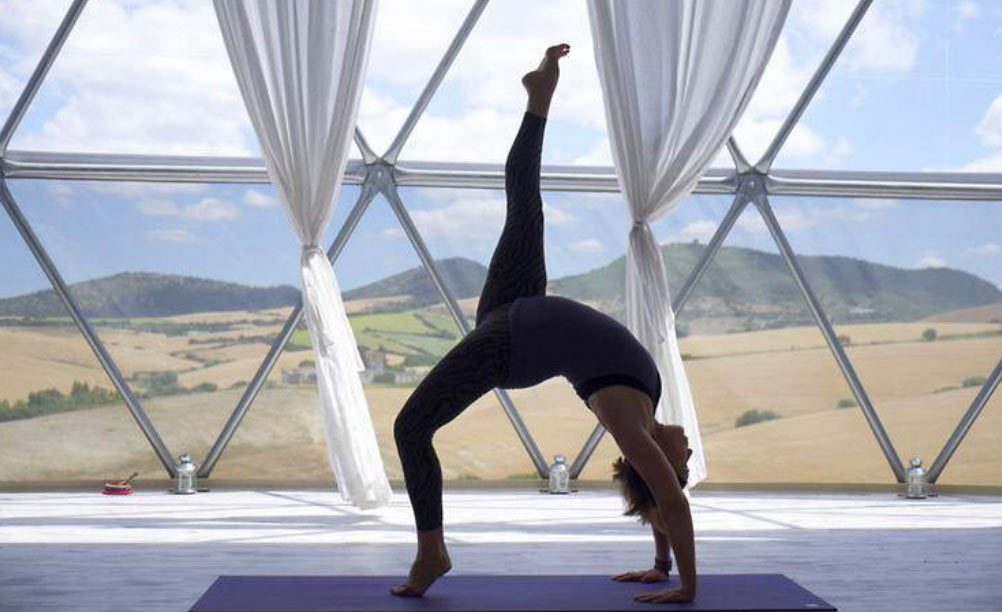 Suryalil yoga dome home. A beautiful place to practise yoga.