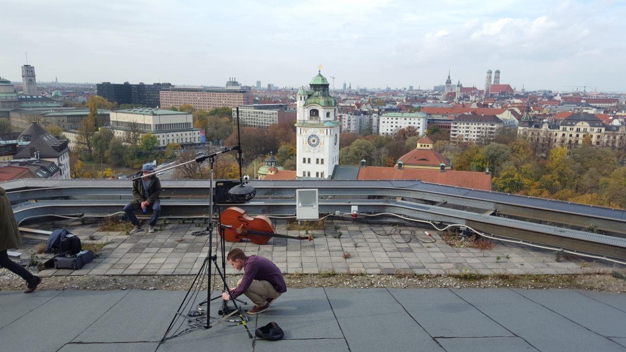 Bass video shoot for  Schoeps Mikrofone