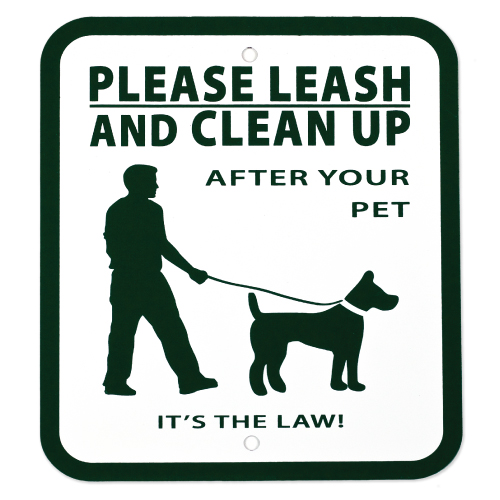 please leash and clean up