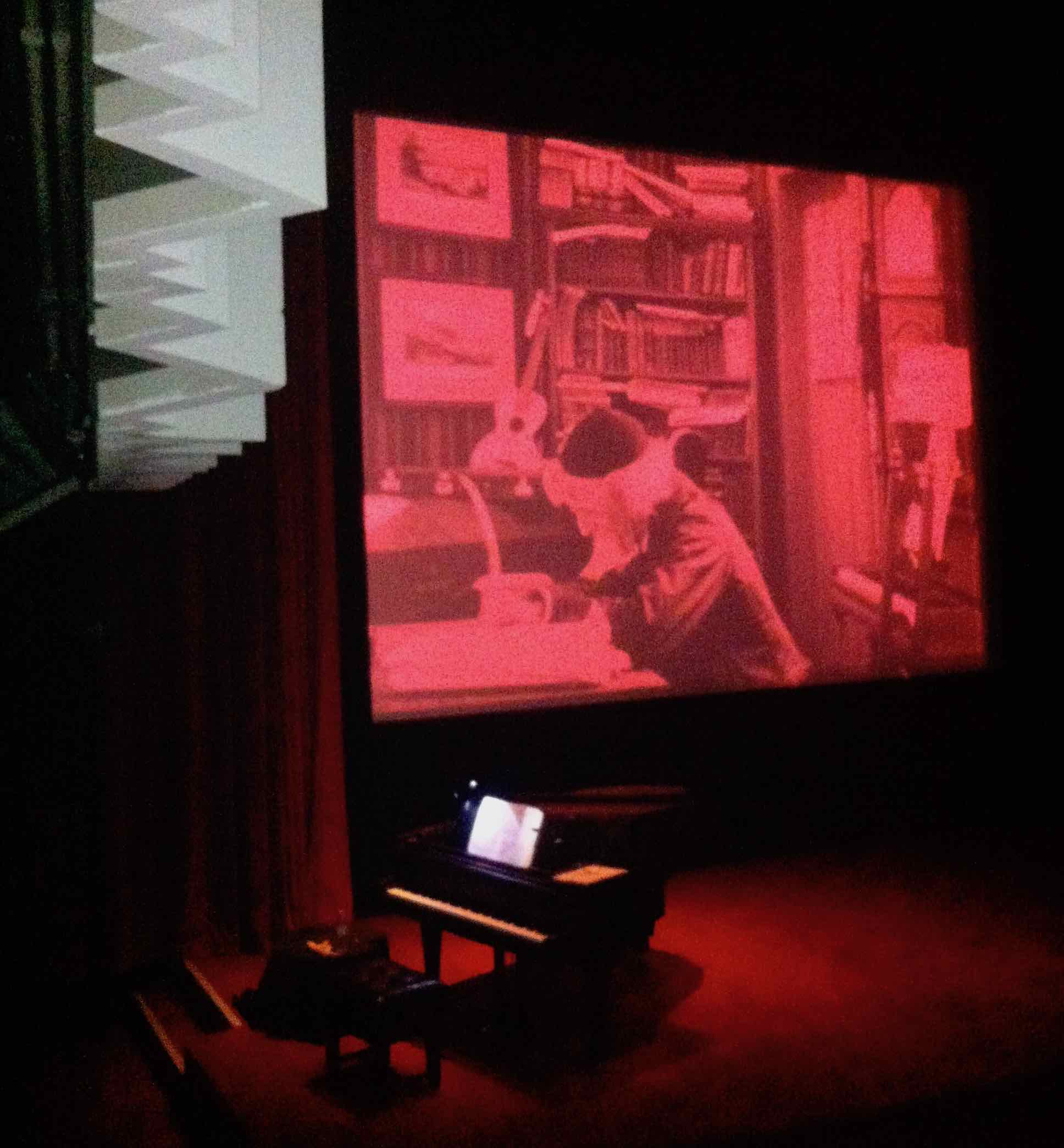 Piano at Barbican Centre's Cinema 1, before the  Richard Wagner  silent film screening, Jan 2014