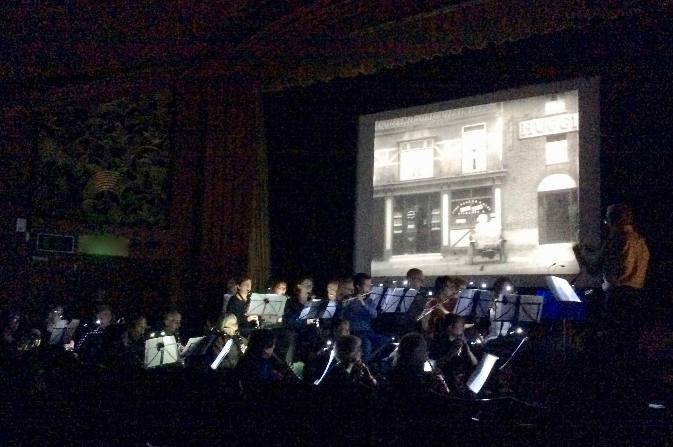 The '?' Motorist , rehearsed by the Palace Band at the Phoenix Cinema, Dec 2017