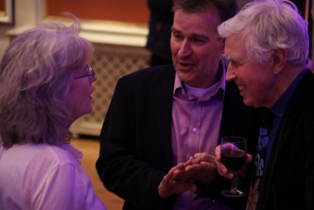 Jean and David with Richard King (Faber Music)
