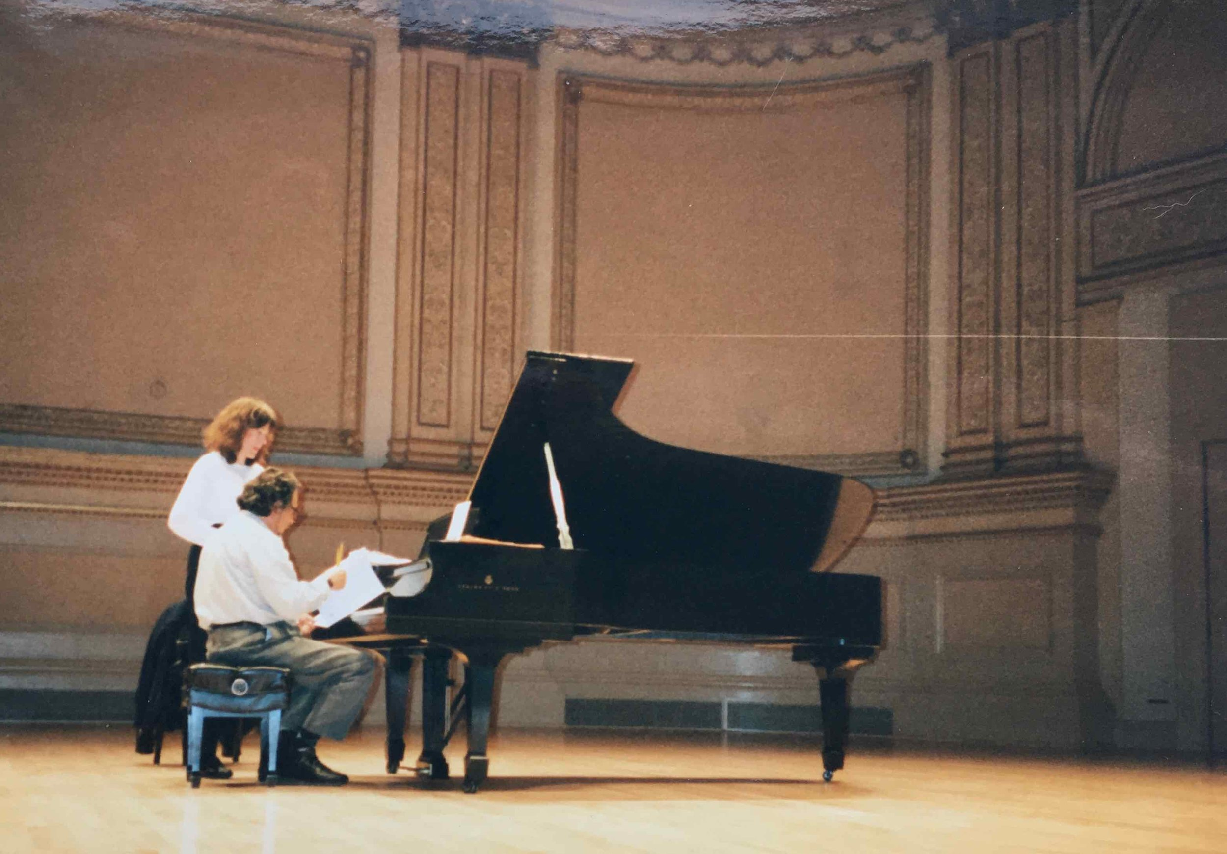 Jean and Leon Fleisher, Carnegie Hall, rehearsing  Silk Water