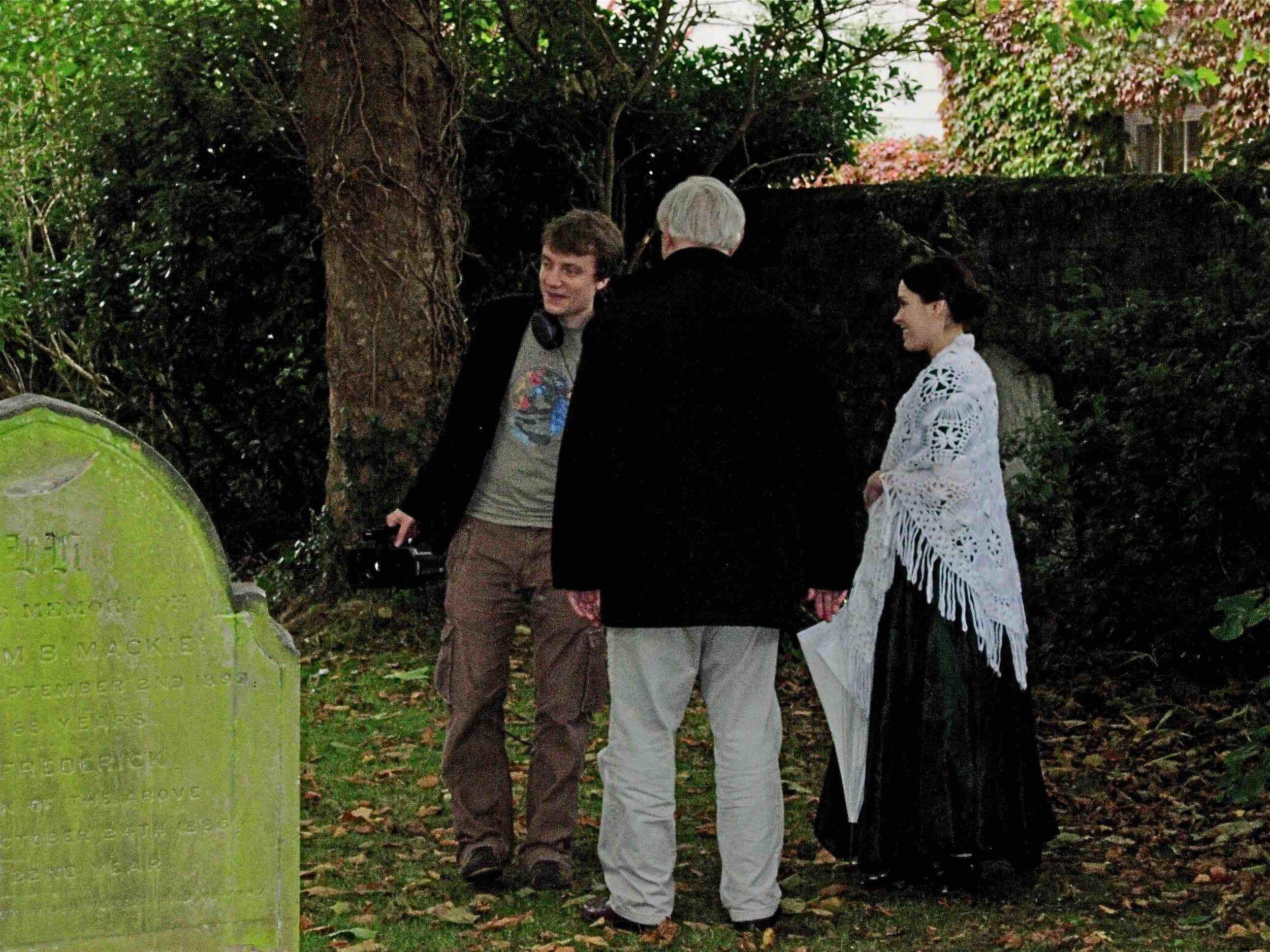 Marcus Korhonen, Norman, and Nicola Howard, filming  Becoming Emily,  Deal, Kent