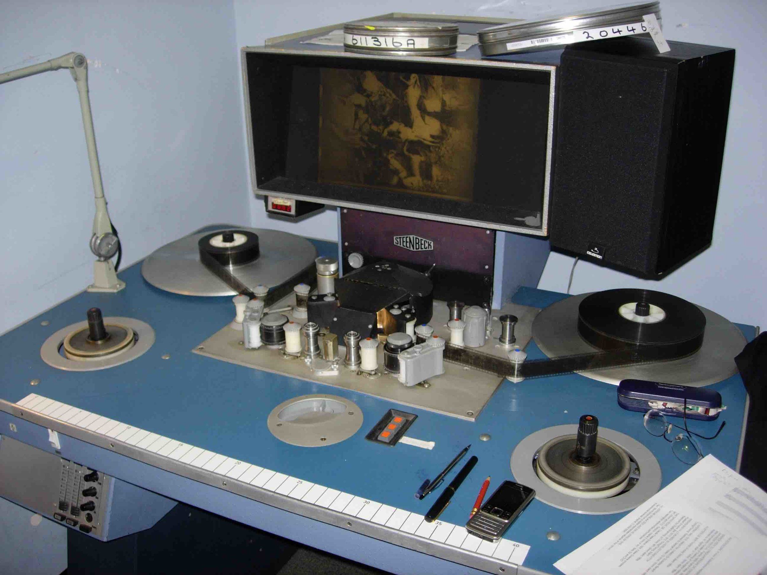 Viewing silent films on the BFI's Steinbeck machine, 2009
