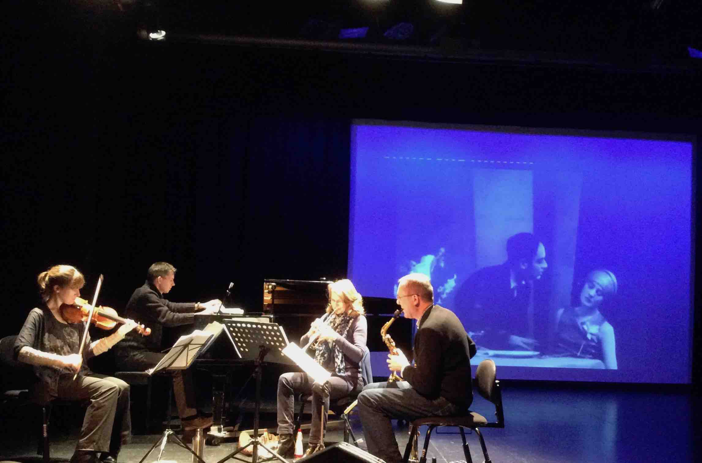 Counterpoise ensemble rehearing  The Fall of the House of Usher  in Luton, Feb 2017