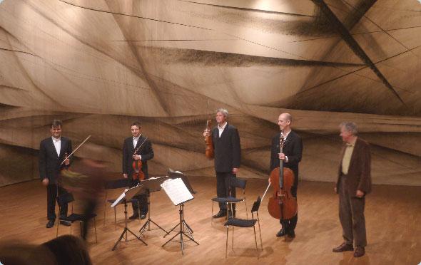 David with the Kreutzer Quartet, Malmö, 2011