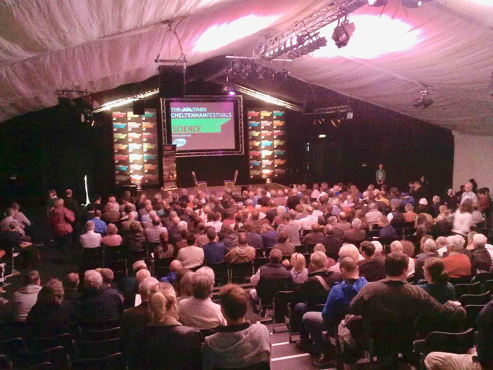 2012 Cheltenham Science Festival, Arena