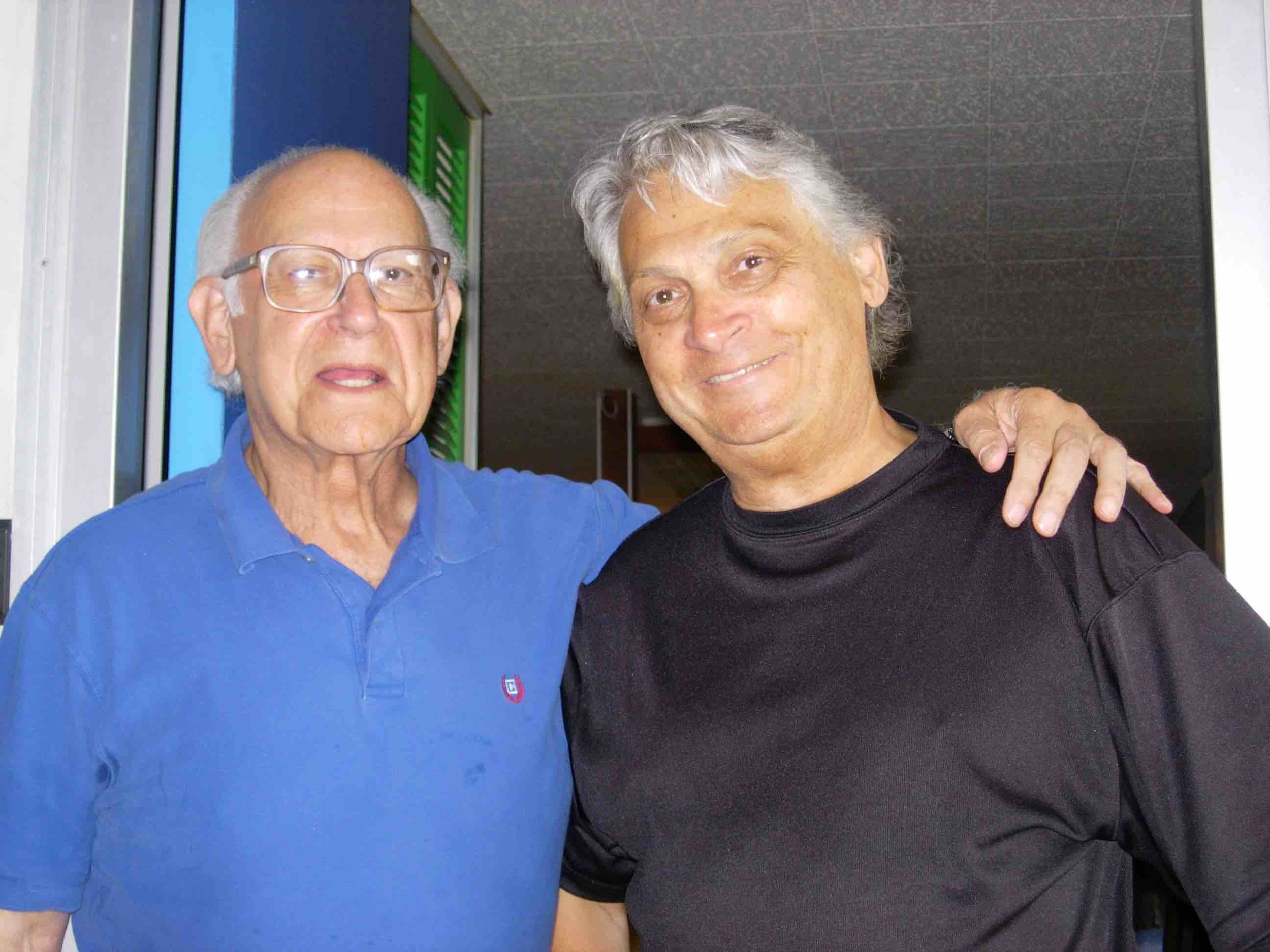 Composer Richard Hoffman and conductor/writer John Knight in Oberlin, Ohio