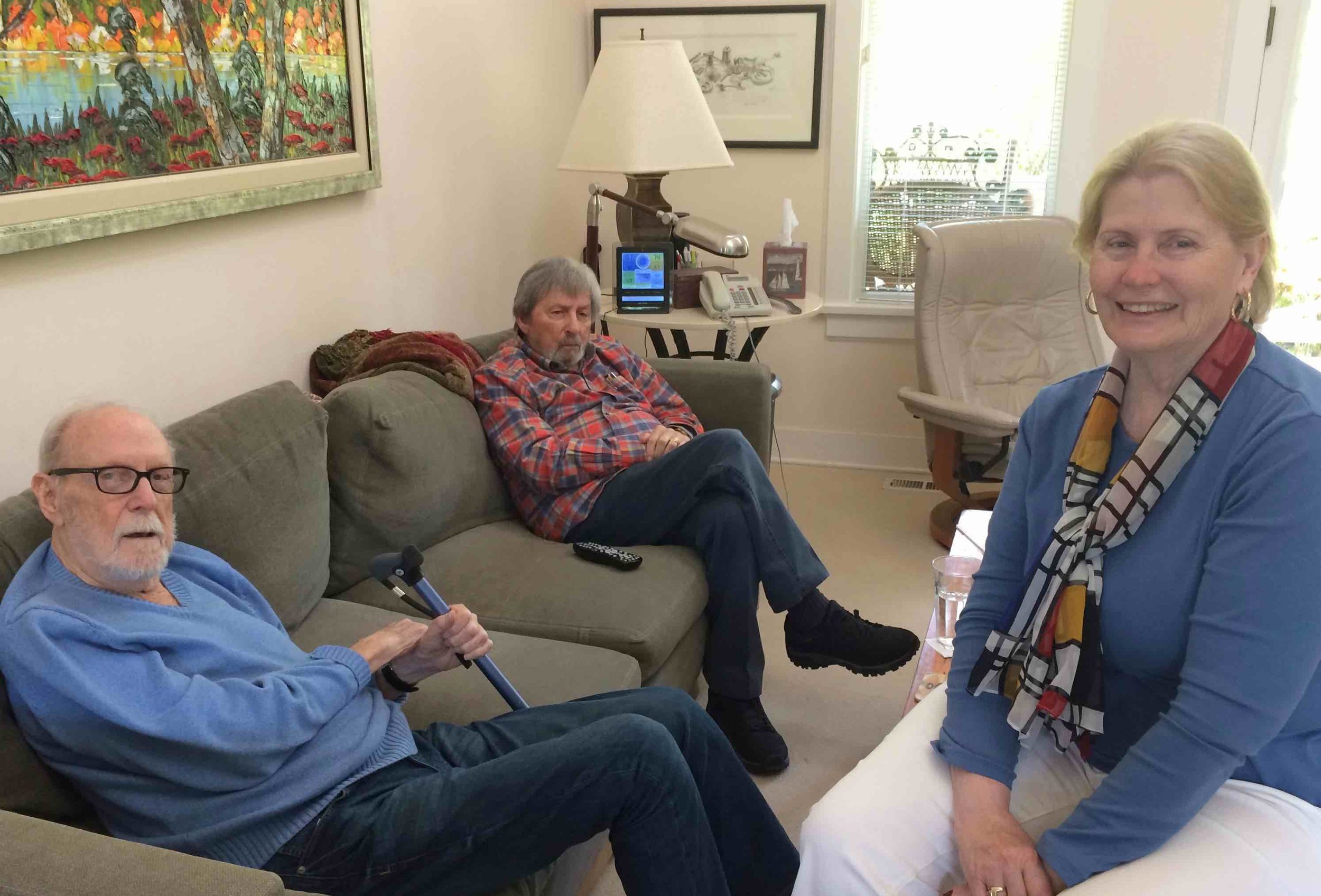 Former Hollywood film music editor Ken Wannberg with pianist/composer/conductor Artie Kane and film music copyist JoAnn Kane - on Whidbey Island, WA