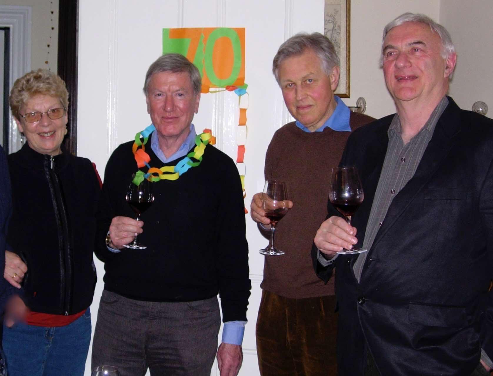 Lisbet Ward and Frank Ward, wine merchants extraordinaire in Deal, Kent; David and Norman