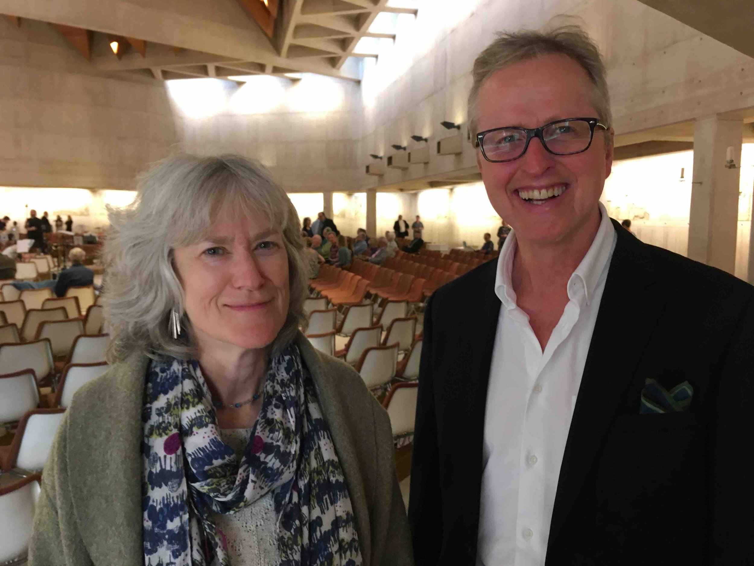 Jean and composer/conductor William Goodchild, June 2019