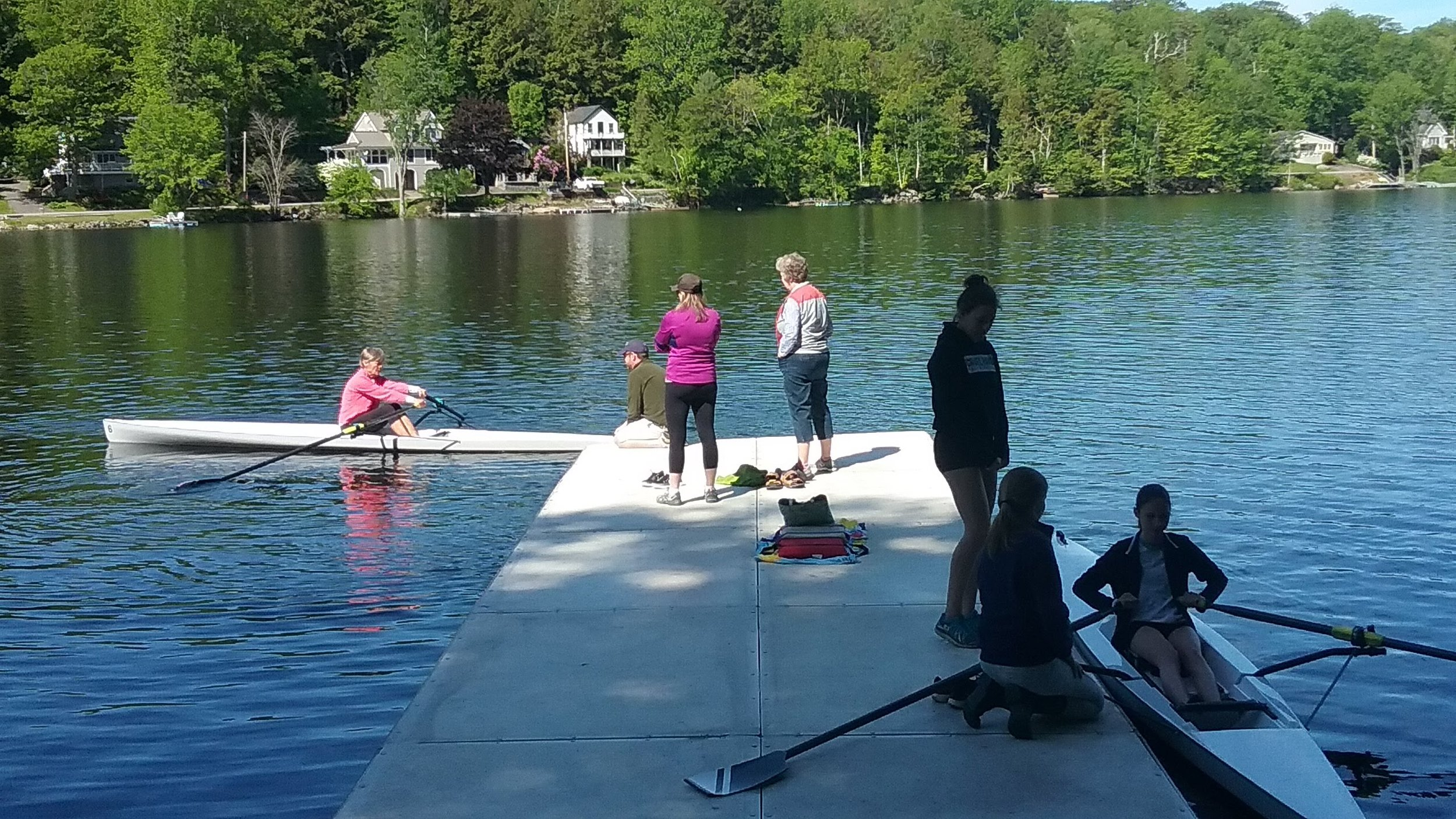 - MASTERS learn to row scull and sweep