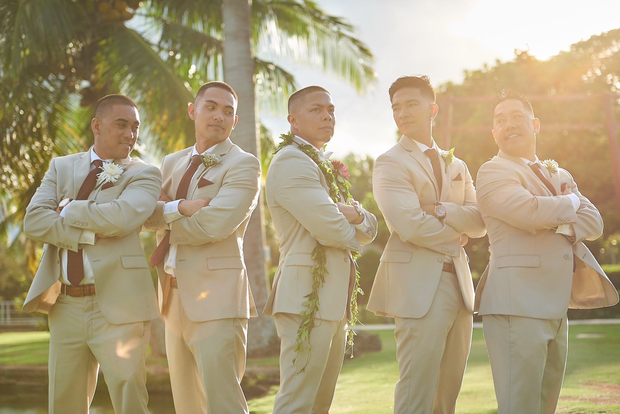Hawaii wedding   Darnell and Ryan Wingsmen