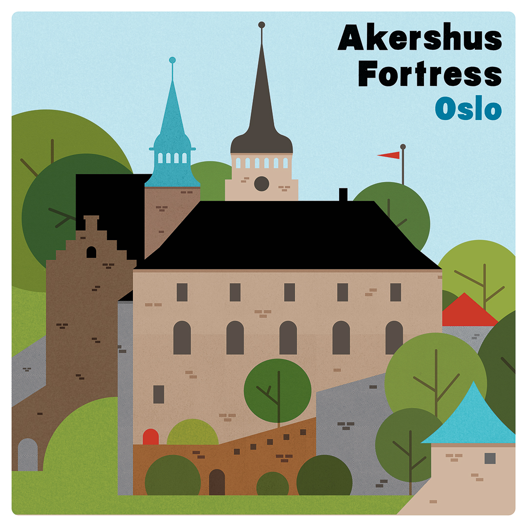 Akershus Fortress - A selection from my on-going Illustrated Norway series.