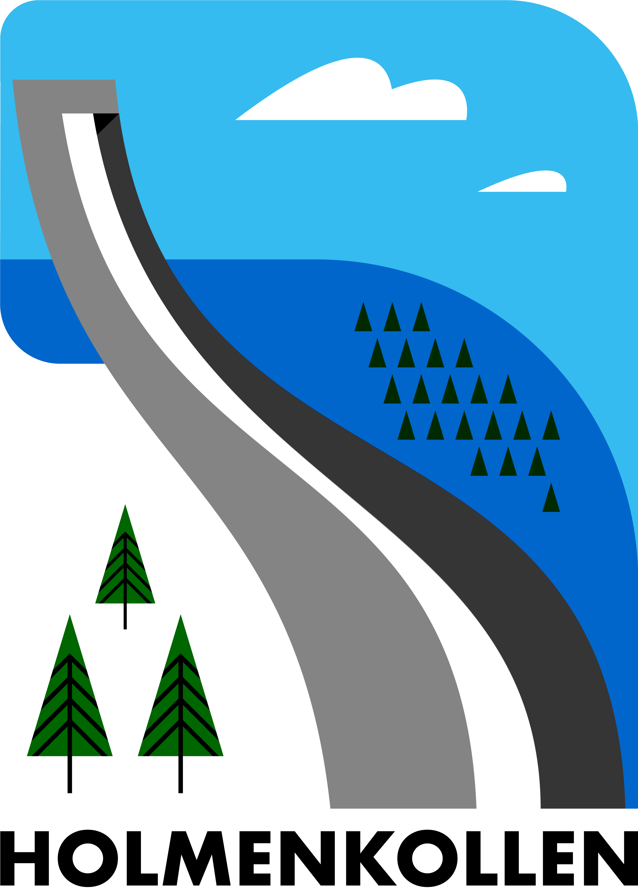 Holmenkollen Ski Jump, Oslo - A selection from my ongoing Illustrated Norway series.