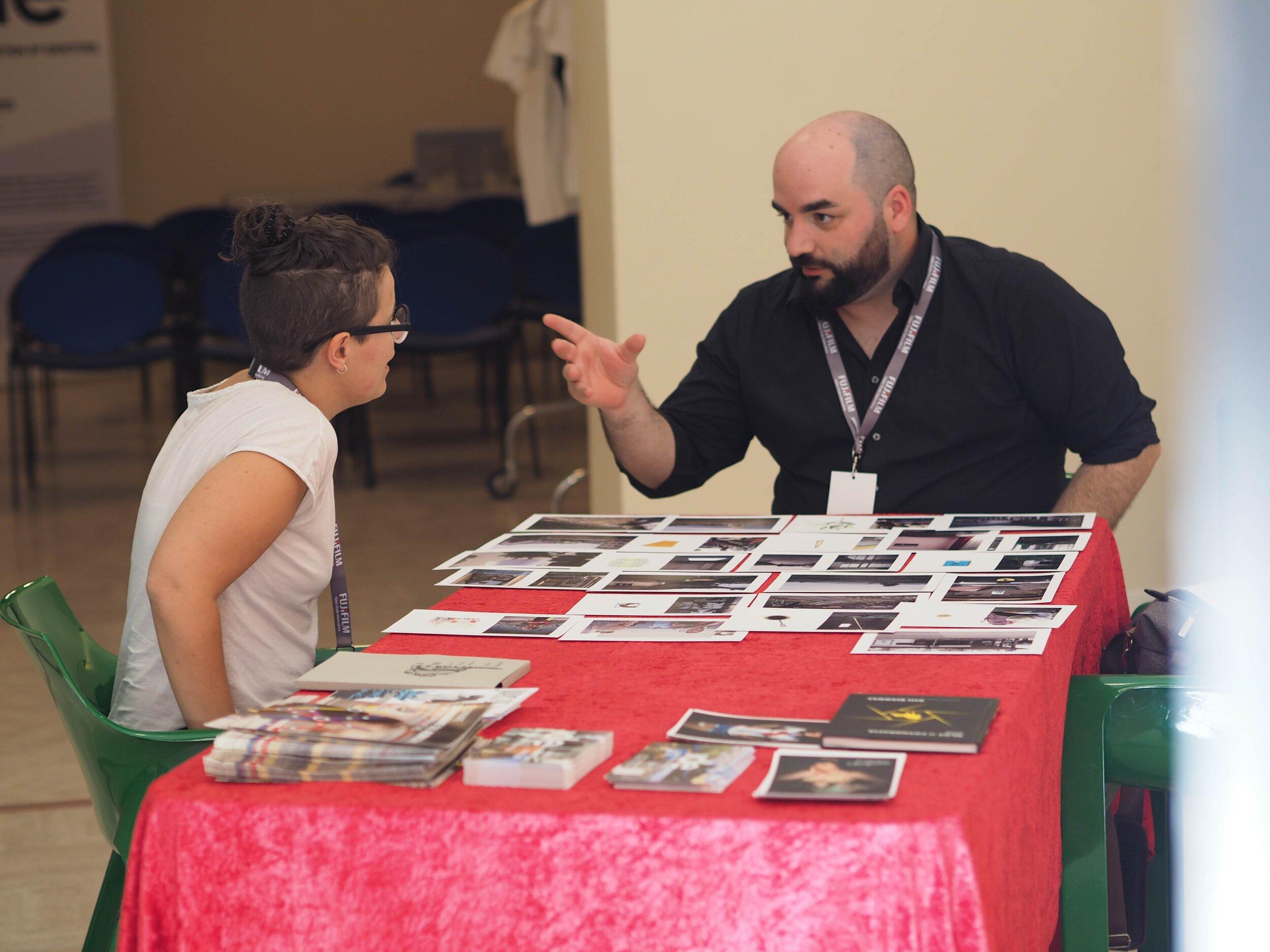 Portfolio review in Savignano