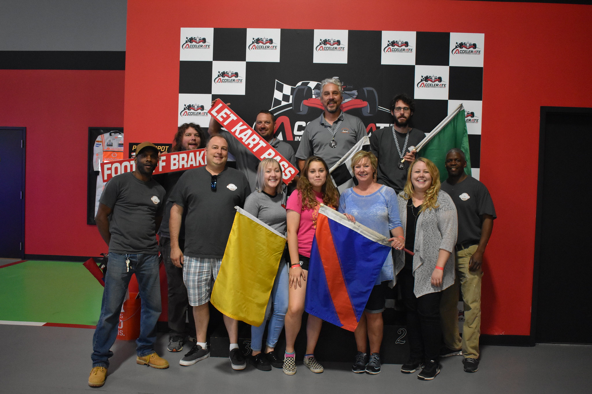 Team bonding event at Accelerate Indoor Speedway