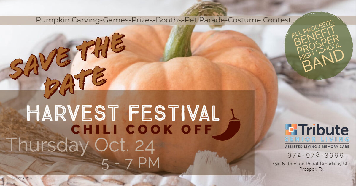 Harvest Fest Save the Date with pumpkin