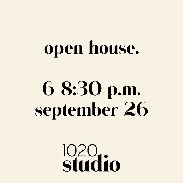Join us this Thursday for our Open house! See you there ✌🏼
