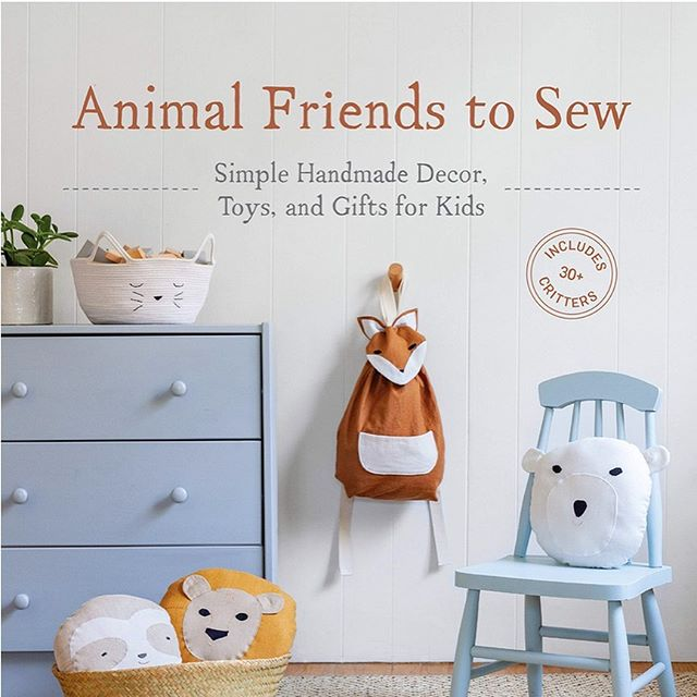 "Head on over to the blog to see more beautiful images from ""Animal Friends to Sew."" A new book by Samar Ishida and photographed by the oh so talented @amyjohnsonphoto . Read her behind the scenes peak on shooting a book cover to cover. Congrats Amy on the beautiful book, we can't wait to snag a copy."