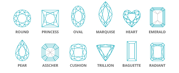 Diamond Cut - Our Master Jeweler, Mr. Mark, states that diamond cut is one of the most fundamental components to consider when buying. We often think of a diamond's cut as just the shape of the diamond like oval, pear, or round for instance. However, a diamond's cut grade is truly about how well a diamond's features interact with light. The cut is the biggest factor in creating shimmer, sparkle, and luminosity. Even a diamond of the highest quality in terms of color and clarity can still appear dull if the diamond cut grade is poor.