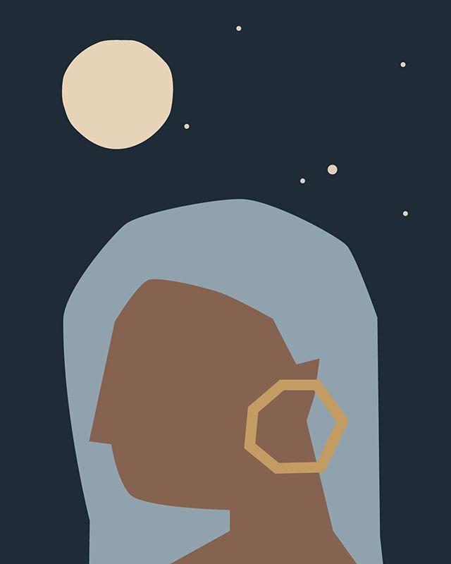 Selene, our Lady of the Moon ⚪️ #digitalcollage #slowdownartcomp2019 #gooddes #selene #moon #luna #alicespadaro @slowdownstudio