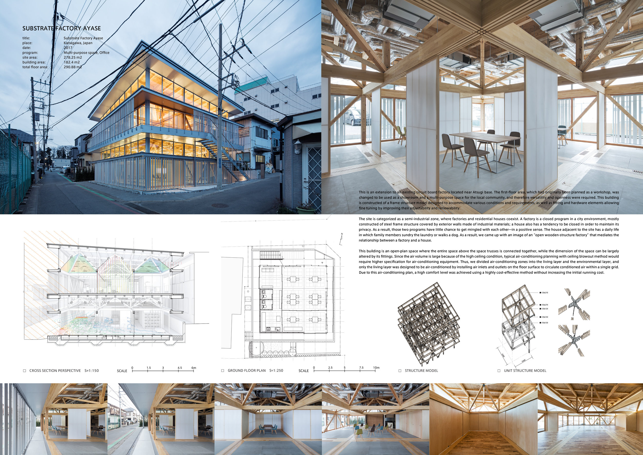 Project Name: Substrate Factory Ayase - Design by: Aki Hamada Architects IncArchitecture Division: OfficeWebsite: http://aki-hamada.com/