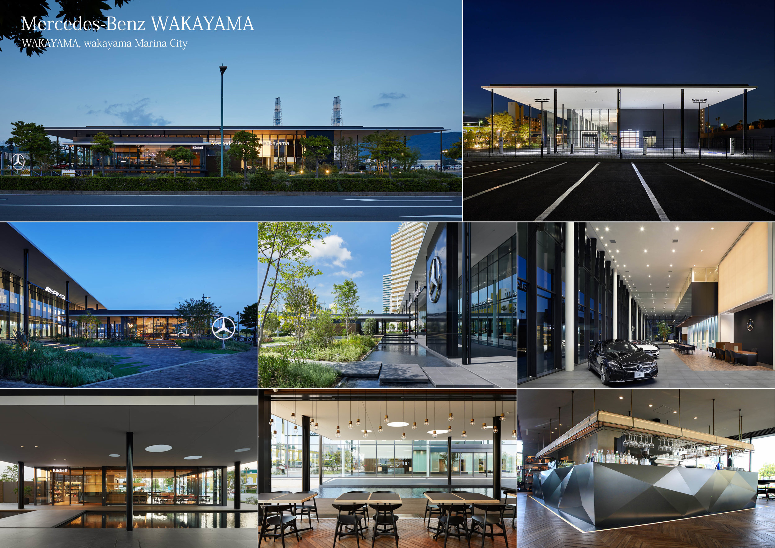 Project Name: Mercedes-Benz WAKAYAMA - Design by: Kubota Architects & Associates Inc.Architecture Division: Commercial - ShowroomWebsite: http://www.ka-a.co.jp