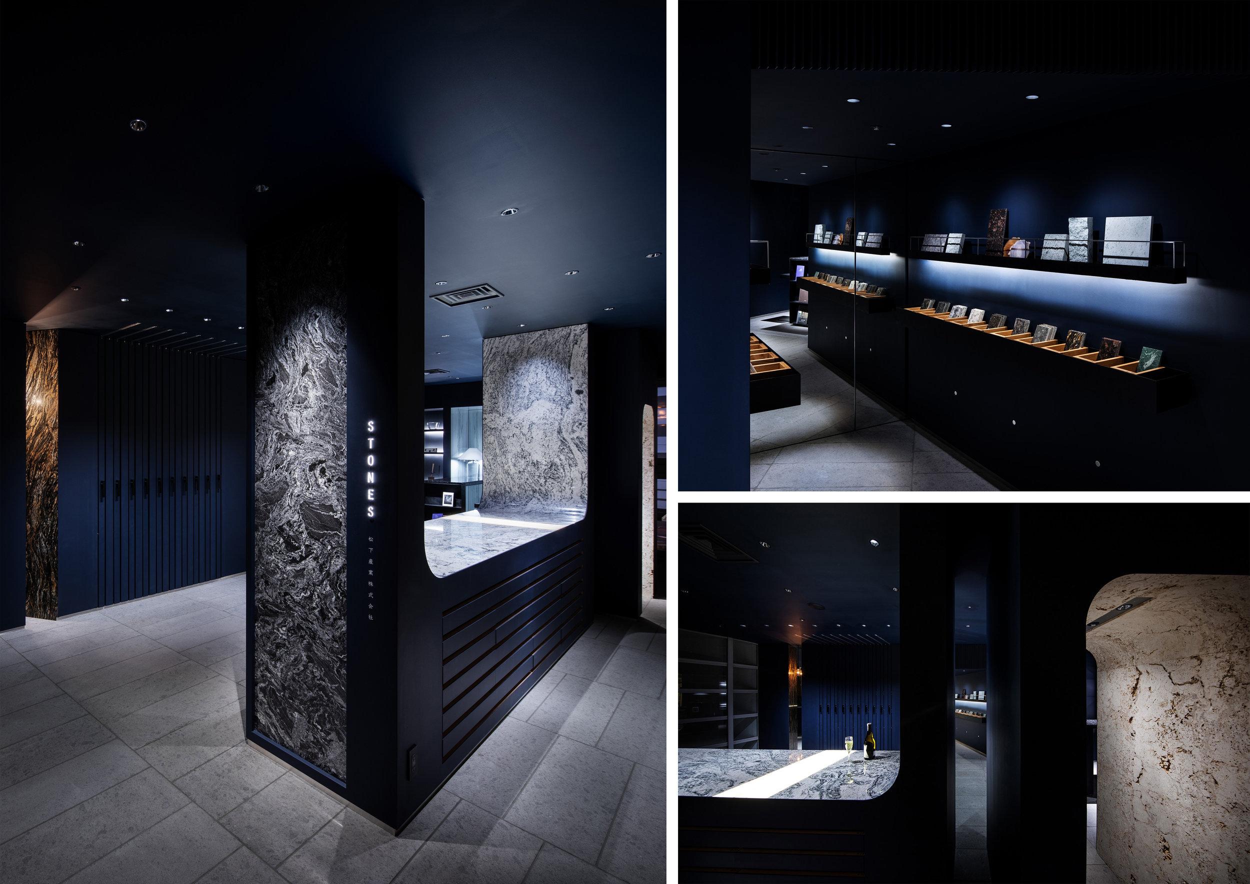 STONES - Design by: IIJIMA DESIGNInterior Division: ShowroomWebsite: http://www.iijima-design.com/index.html