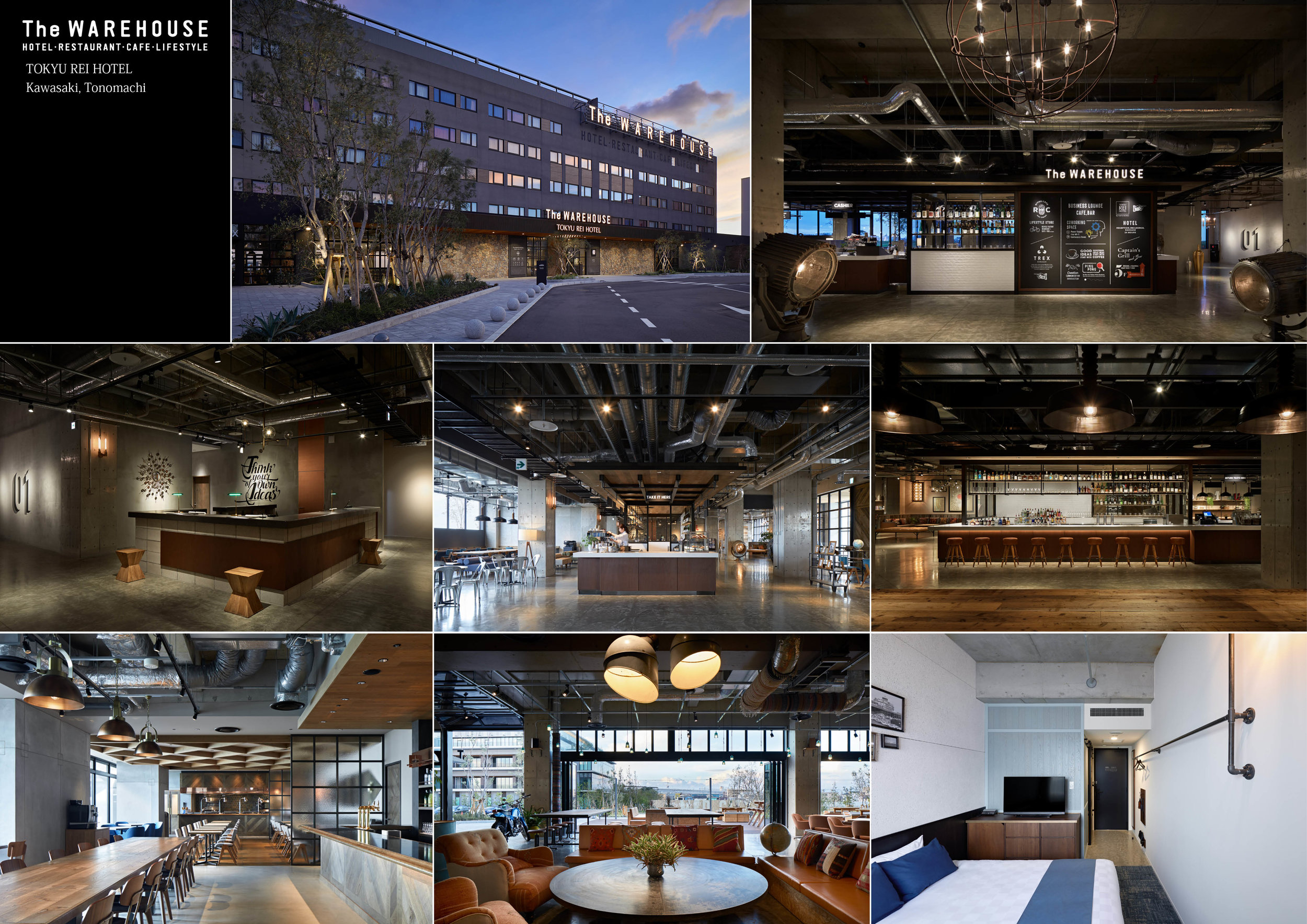 The WAREHOUSE - Design by: Kubota Architects & Associates Inc.Interior Division: Hotel & ResortWebsite: https://www.ka-a.co.jp